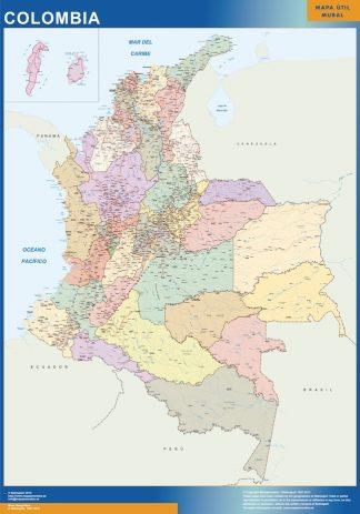 Colombia Kort Kob Store Vaegkort Af Verden Og Danmark