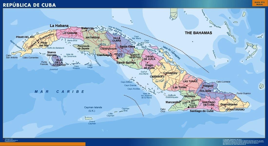 Cuba Map Kob Store Vaegkort Af Verden Og Danmark