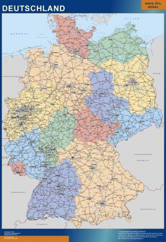 Tyskland Kort Kob Store Vaegkort Af Verden Og Danmark