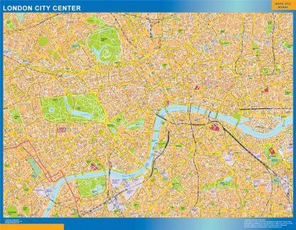 Map Downtown London.London City Downtown Map