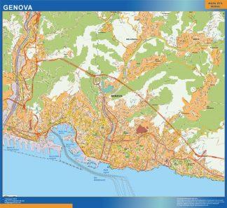 Map Of Genova City In Italy Kob Store Vaegkort Af Verden