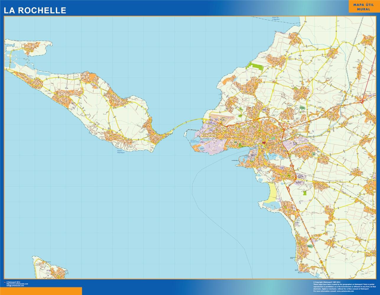 Map Of La Rochelle France Kob Store Vaegkort Af Verden Og Danmark