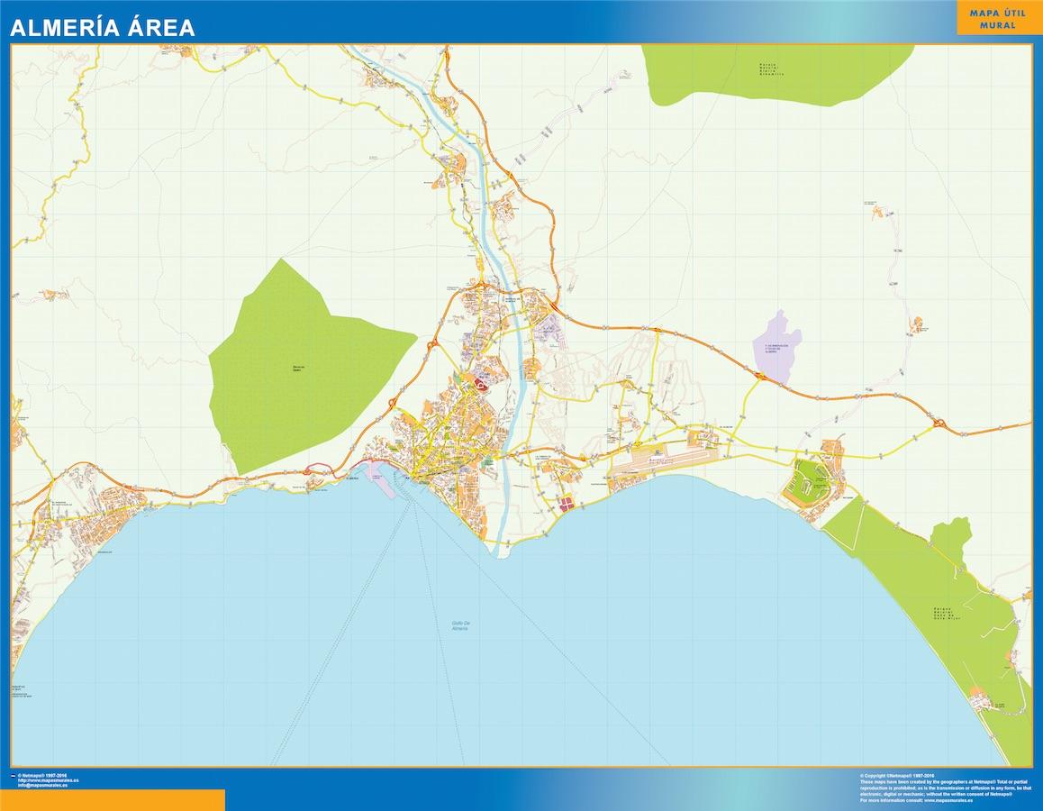 Road Map Almeria Spain Kob Store Vaegkort Af Verden