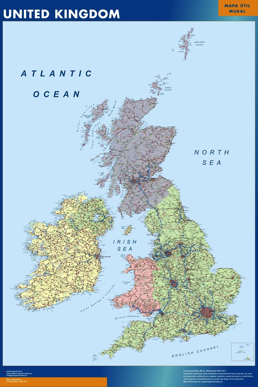 United Kingdom Map Kob Store Vaegkort Af Verden Og Danmark