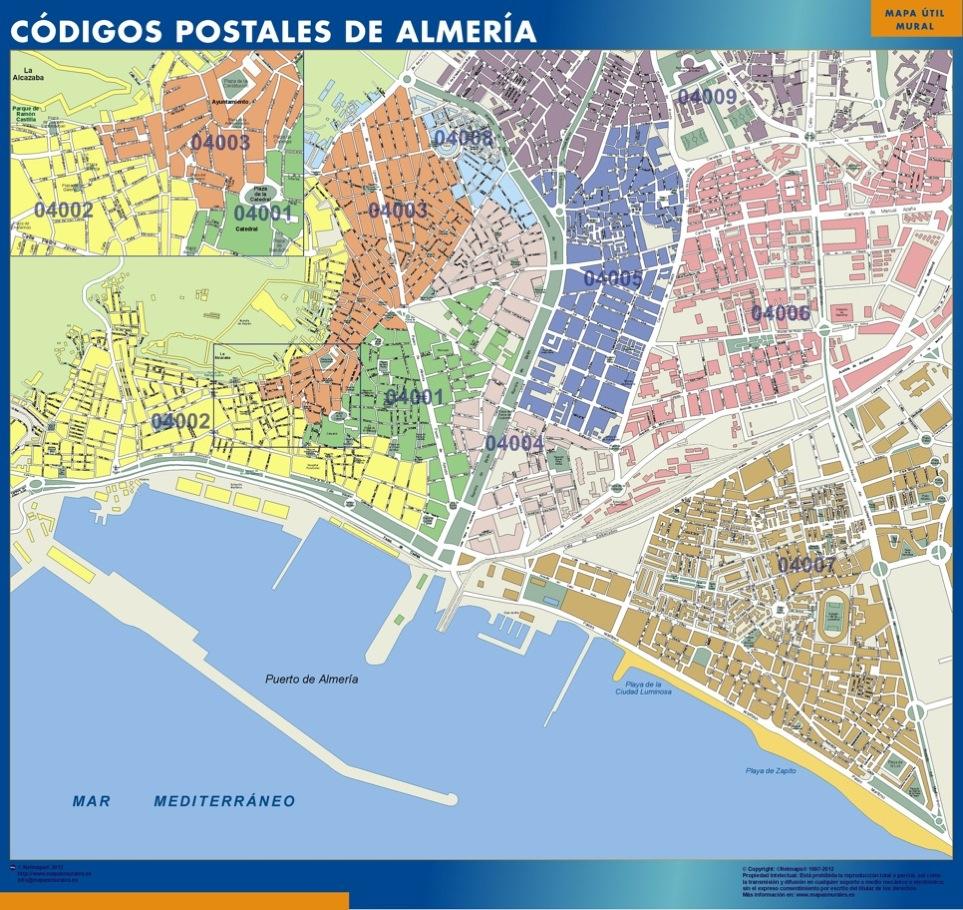 Zip Codes Almeria Map Kob Store Vaegkort Af Verden Og Danmark