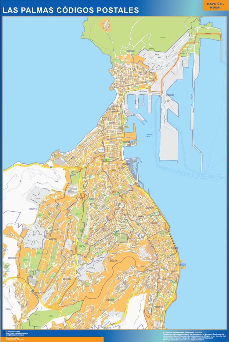 Postcode Wall Map D A Ch