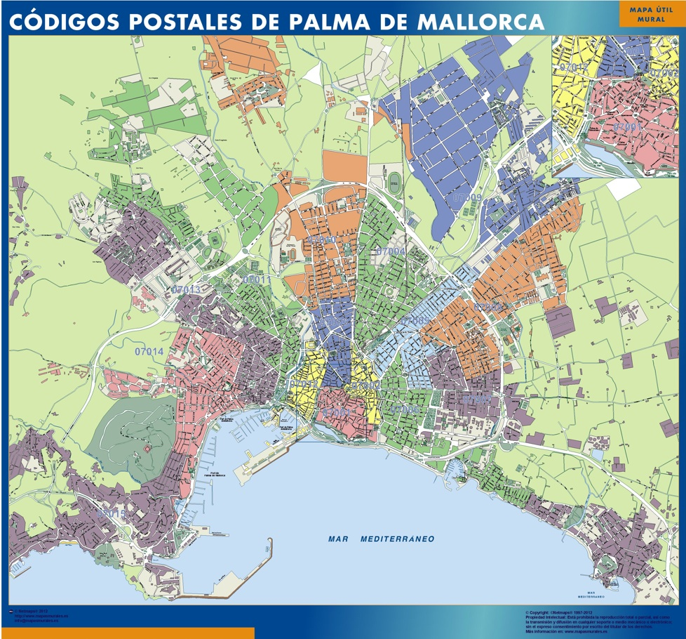 Zip Codes Palma De Mallorca Map Kob Store Vaegkort Af Verden Og