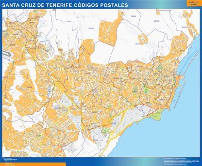 Zip Codes Santa Cruz De Tenerife Map Kob Store Vaegkort Af Verden